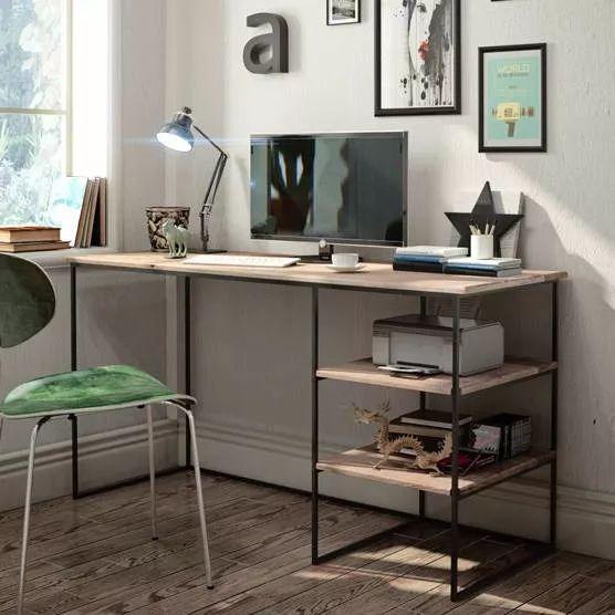 escritorio estilo industrial - hierro y madera