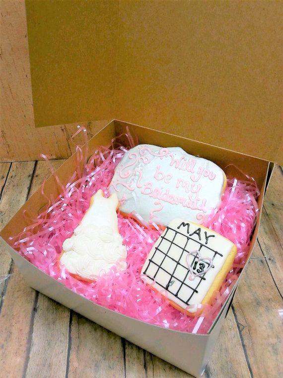 Bridesmaid Cookie Box  Will You Be My Bridesmaid  Bridesmaid