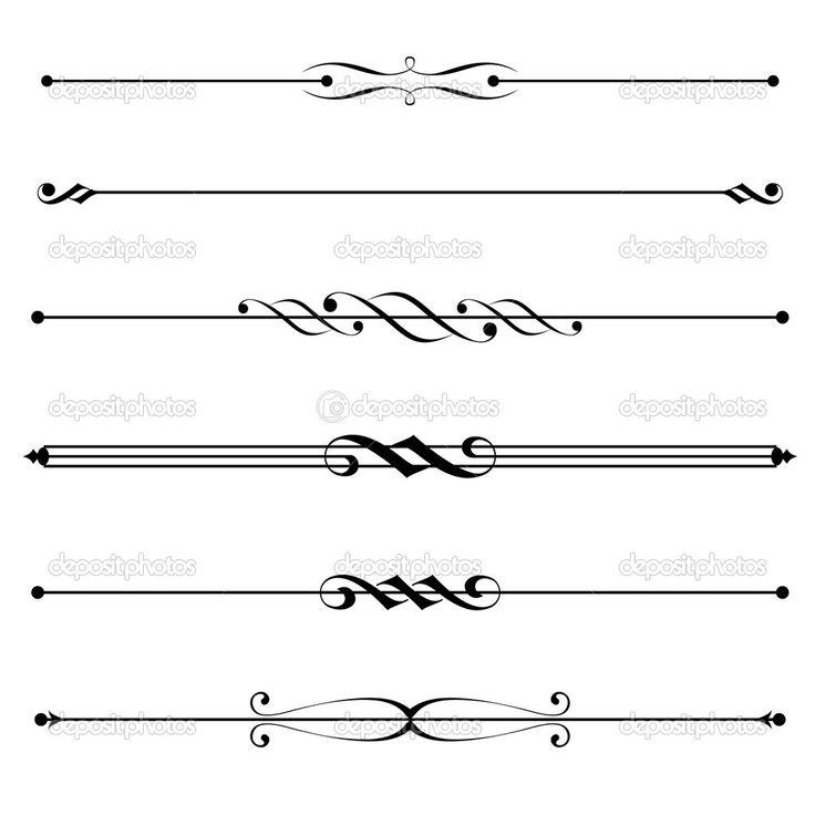 Free Vector Decorative Details Decorative Elements Border And