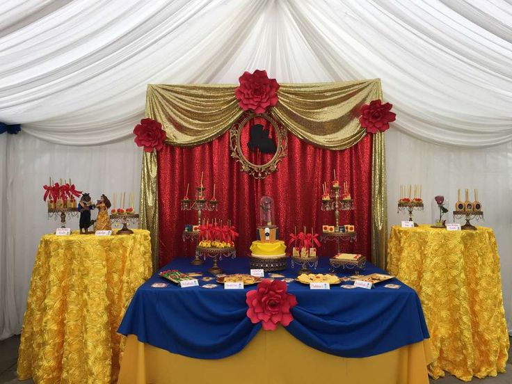 Beauty & The beast Birthday Party Ideas | Photo 1 of 22