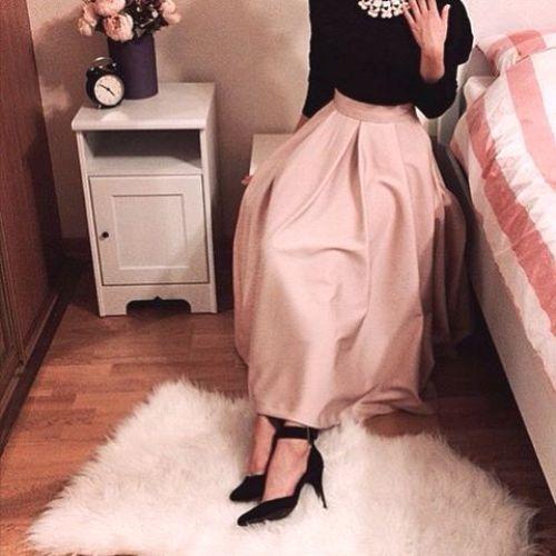 blush maxi skirt hijab chic- Maxi jupes chic hijab http://www.justtrendygirls.com/maxi-jupes-chic-hijab/