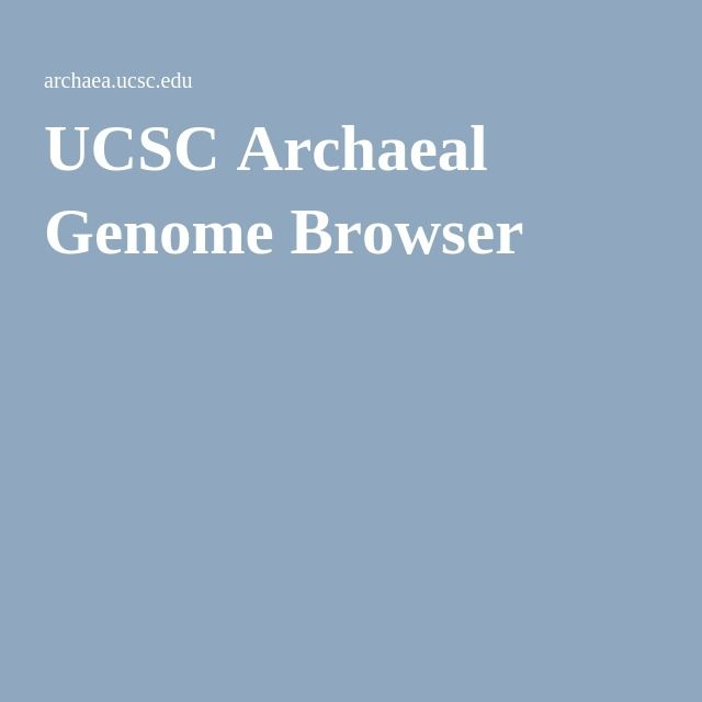UCSC Archaeal Genome Browser