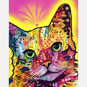 Tilt Cat now featured on Fab.: Cat Art, Animal Art, Catart, Dean Russo, Color, Dean O'Gorman, Canvas, Tilt Cat, Cat Prints