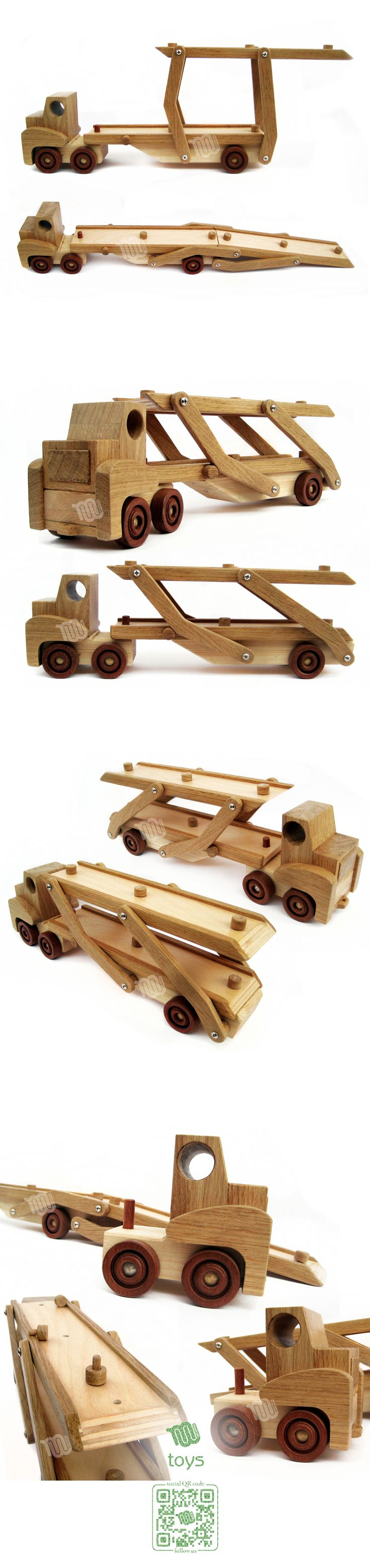 Car carrier trailer - wooden toy