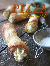 What in the World is a Pizza Cannoli?? A pizza cannoli! But, using pizza dough, instead of the original pastry dough for the typical Sicilian cannoli!!  And, you know what, paisanos?? They were SO easy to make!   Who says a pizza has to be flat?? So, sink your teeth into one of these crispy pizza cannoli, and fuhhhgetttaboutit!