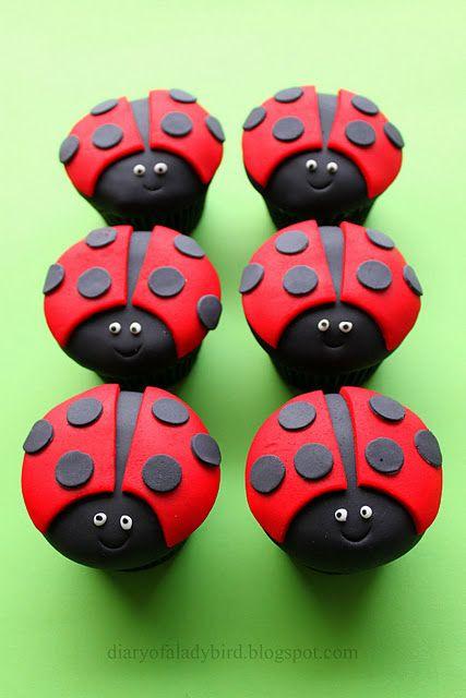 ladybug cupcakes tutorial