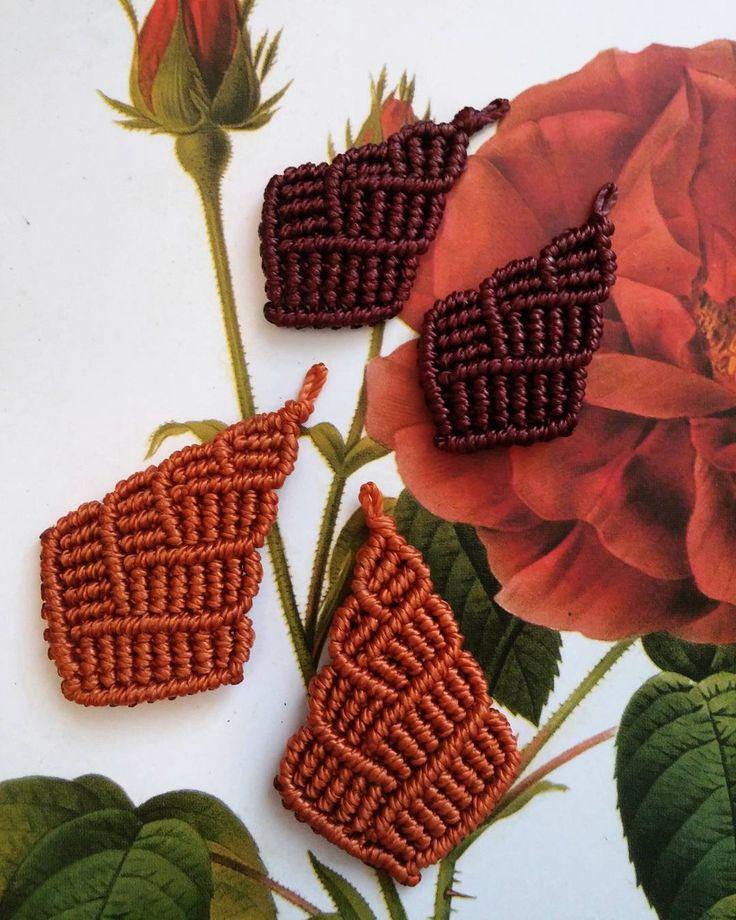 Warm Colors Macrame Earrings
