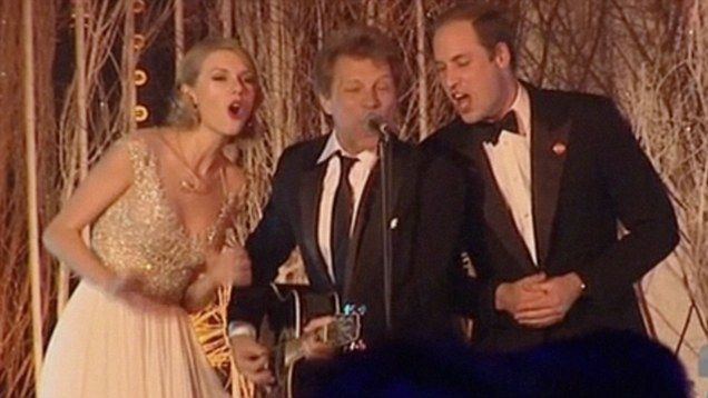 "Prince William, Taylor Swift & Jon Bon Jovi singing ""Livin' On a Prayer""...Will can sing!"