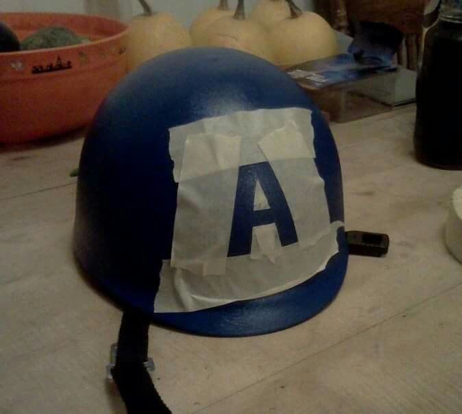DIY Captain America helmet                                                                                                                                                                                 More