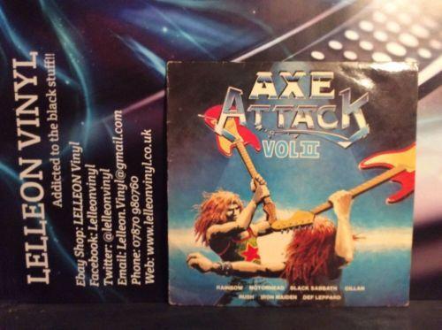 Axe Attack Vol II LP Album Vinyl NE1120 Rock 80's Sabbath Maiden Motörhead Judas Music:Records:Albums/ LPs:Rock:Hard