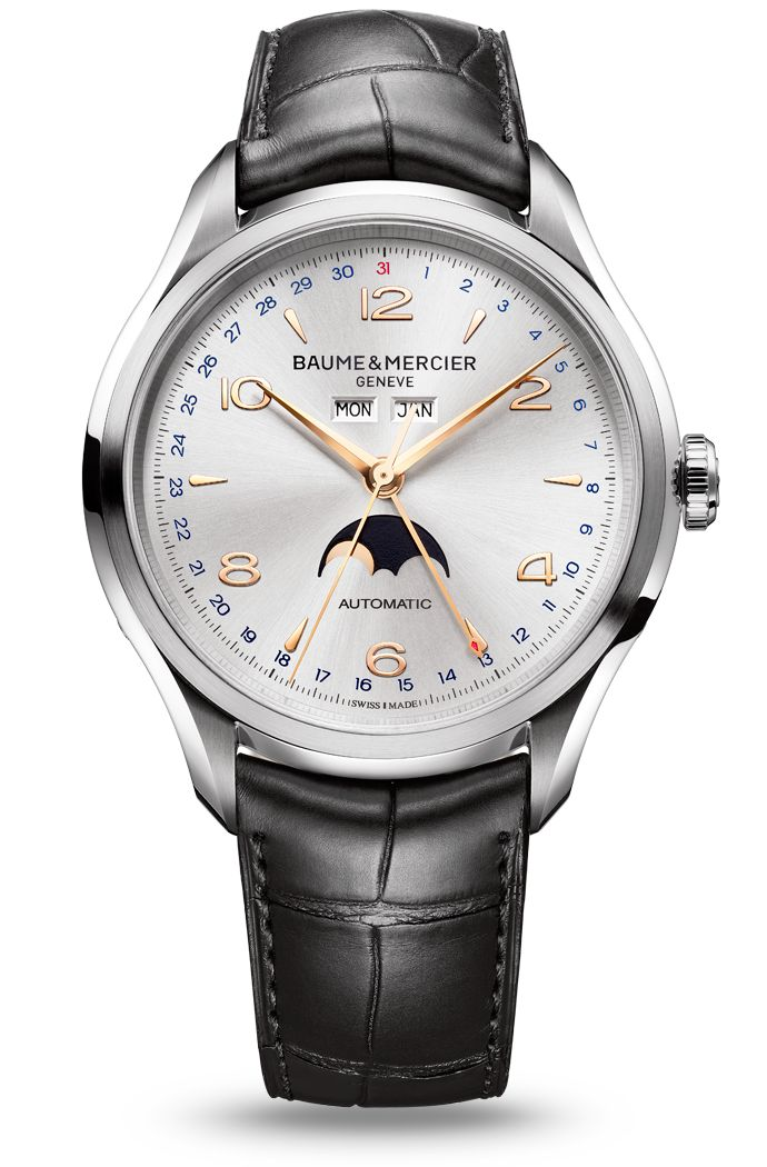 Lunar renaissance. Allow the @BaumeetMercier #Clifton 10055 and its complete moon phase calendar to realign your time with the evolution of the moon.