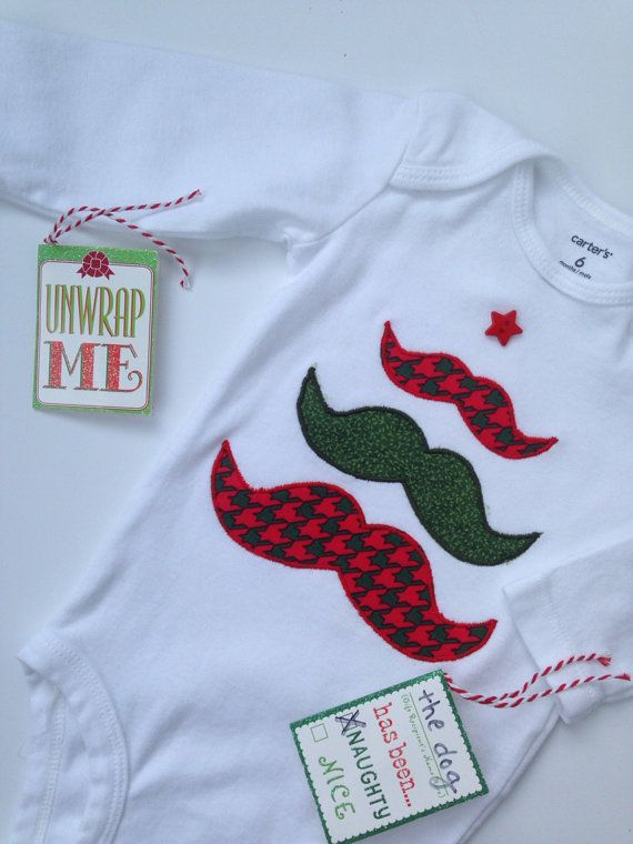 Christmas Mustache Onesie Mustache Christmas Tree by SweetTootsy, $25.00