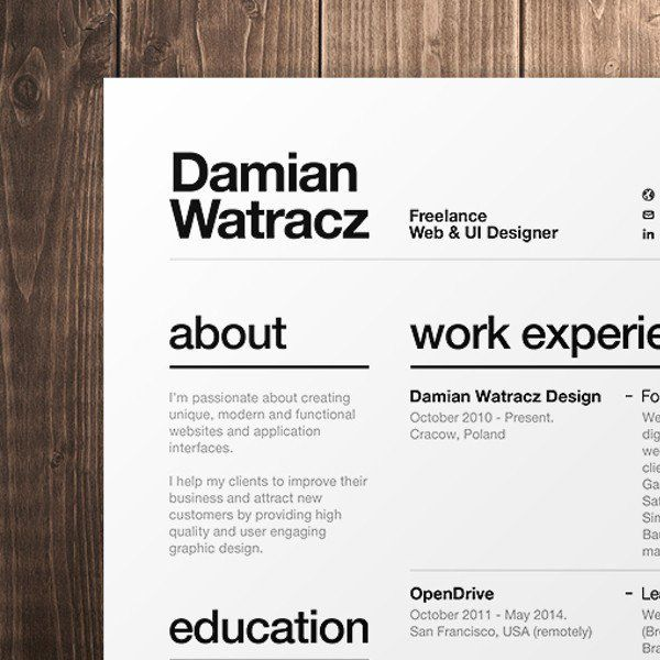 Best 25+ Resume fonts ideas on Pinterest Resume ideas, Resume - web design resumes