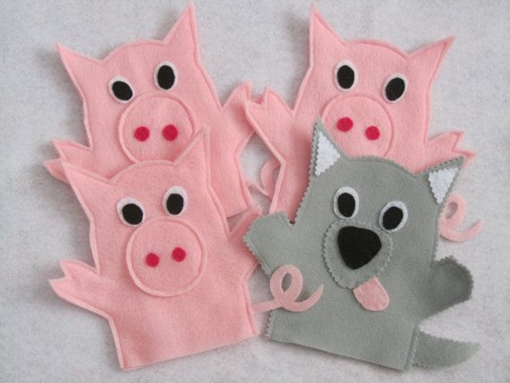 the three little pigs puppet templates - best 25 felt puppets ideas on pinterest finger puppets