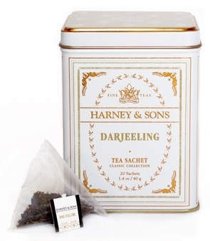 "Darjeeling Tea - High in the mountains, deep in the mists that surround the Himalayas is Darjeeling ~ ""Queen of Teas"". Darjeeling tea is a blend of First Flush and Autumnal teas from the best gardens. This mixture yields a light color in the cup - a fragrant ""nose"". A great value."
