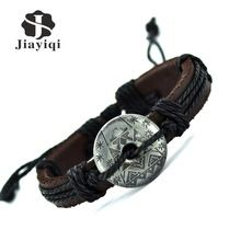 Neve chegada estilo de pulseira de couro charme pulseiras pulseira para mulheres homens Vintage.