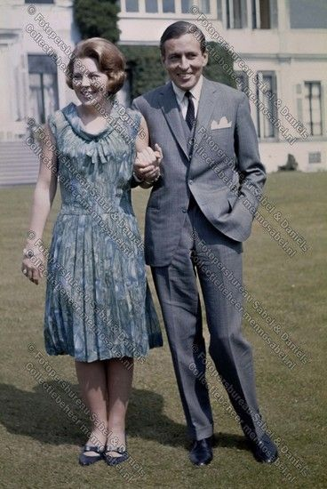 Verloving Prinses Beatrix en Claus von Amsberg. © Fotopersbureau Sabel & Daniëls.