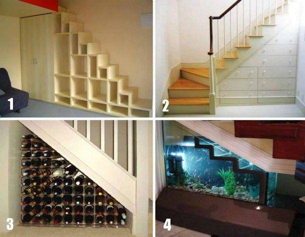 Pomysły na organizację miejsca pod schodami