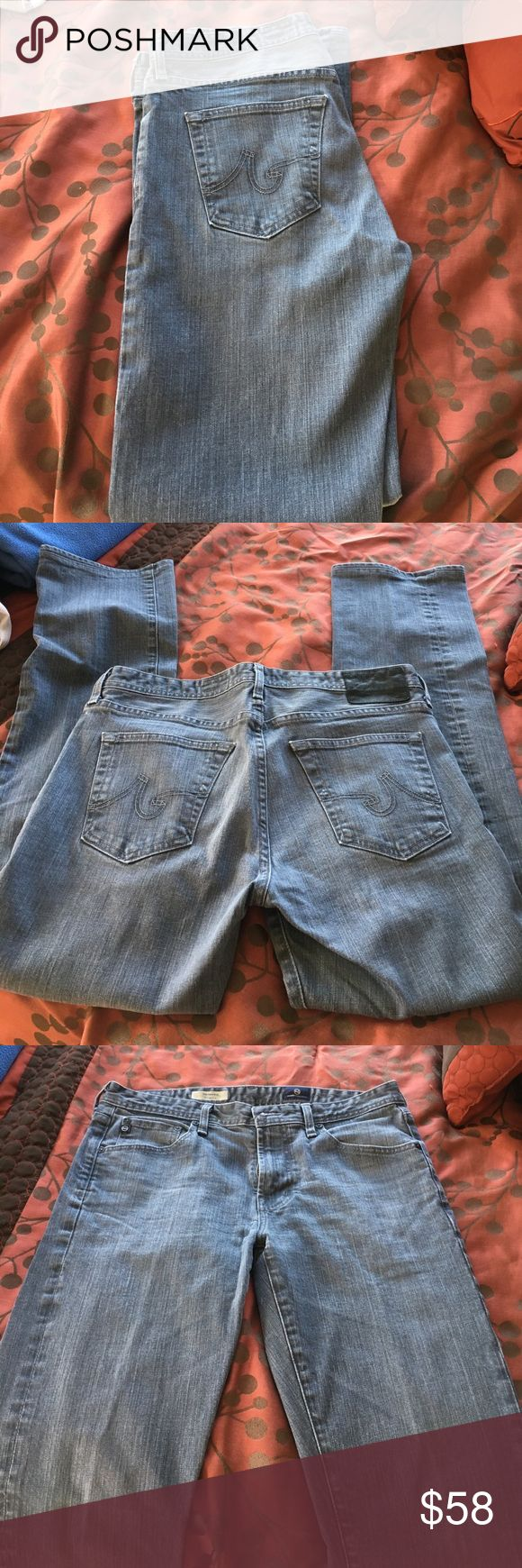Gray Jeans size 32x34 Gray wash, straight leg, the protege is the type of jean it is. Very comfortable. Great Condition! Ag Adriano Goldschmied Jeans Straight
