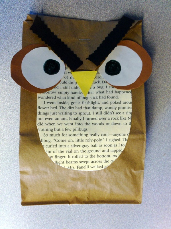 how to make a paper bag owl