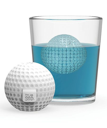 Chill your drinks in sporty style with this whimsical golf ball ice mold.