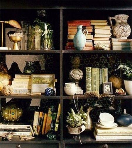 Paris apt: Decor, Vignettes, Bookshelves, Idea, Living Rooms, Books Shelves, Bookca, Domino'S Magazines, Bookshelf Style