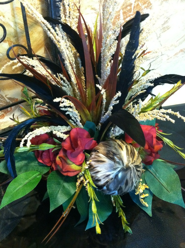 Images about feathers in floral arrangements on