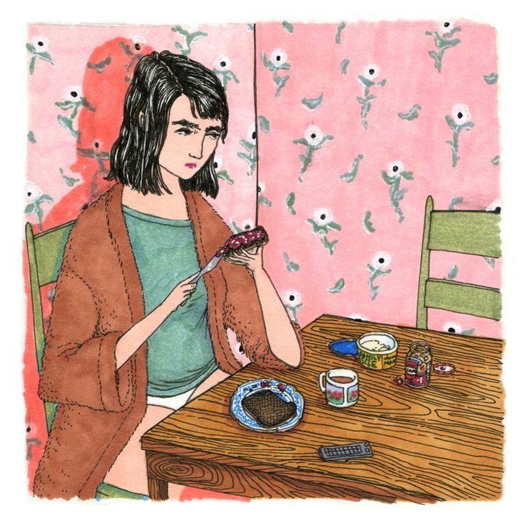 Le illustrazioni di Sally Nixon elevano la banalità del quotidiano ad arte.