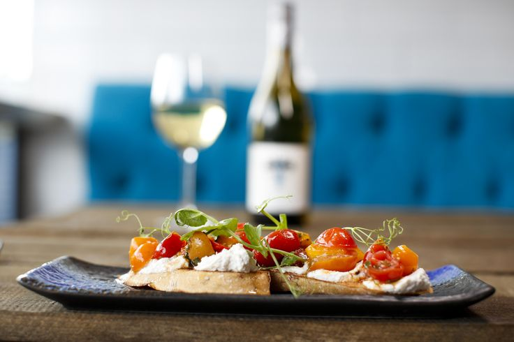 A gorgeous small plate that goes great with a bottle of wine 😍 Ricotta mousse & roast heirloom tomato crostini  #yum #dinner #restaurant #swords #dublin #newmenu #amazingchefs