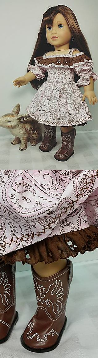 Country girl! Shirley F of Dollclothesbyshirley on Etsy was waiting for just the right American Girl doll project to use this darling brown eyelet trim. We are thrilled she chose the Bahia Dress from our Pattern 1035: Olá Brasil! for 18 Inch Dolls as that project. Get your own FREE copy of this pretty, versatile pattern — which also includes a top and doll jewelry tutorials — by signing up for the Lee & Pearl mailing list in 2016 at http://www.leeandpearl.com/index.html#freepattern
