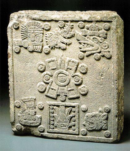 Coronation Stone of Moctezuma II.  Stone of the five suns