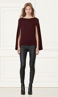 Merino Wool Sweater Cape - Collection Apparel Scoop, Crew & Boatnecks - RalphLauren.com