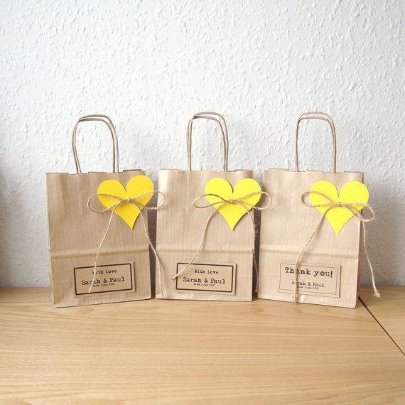Small gift bags set of 5 15cm x 19.5cm x 8cm by shintashop on Etsy, £6.00