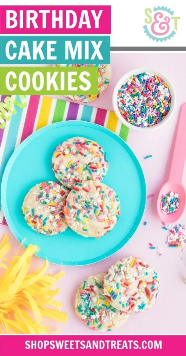 Funfetti Cookies Recipe 2 Ways Homemade Cake Mix Ideas Cake