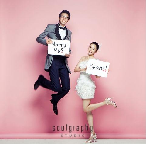 Wedding photoshoot jump pink