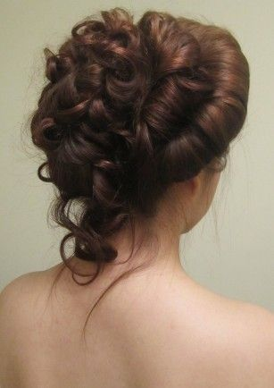 Victorian hair styling