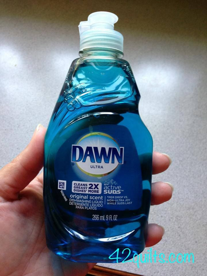 Quilting Tip of the Day: Dawn dishwashing soap is great to wash your finished quilts. It's similar to Synthrapol, a detergent dyers use to keep fugitive dyes from redepositing on fabric. Use just a tablespoon or two per quilt so it doesn't foam up the machine. Also wash new fabric with it for the same reason. (Wash new fabric in HOT water.) Cheap and available everywhere.