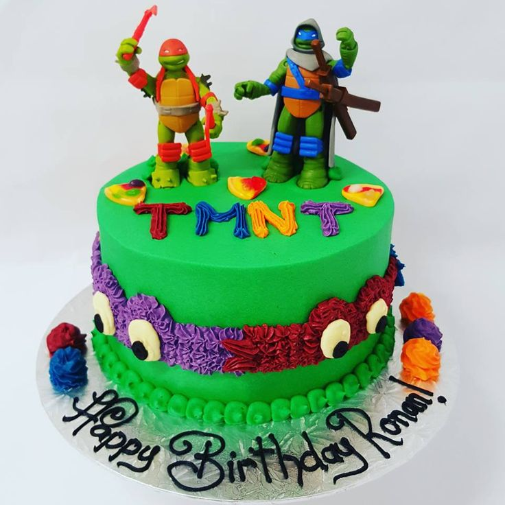 Smooth Green with TMNT sides and figurines