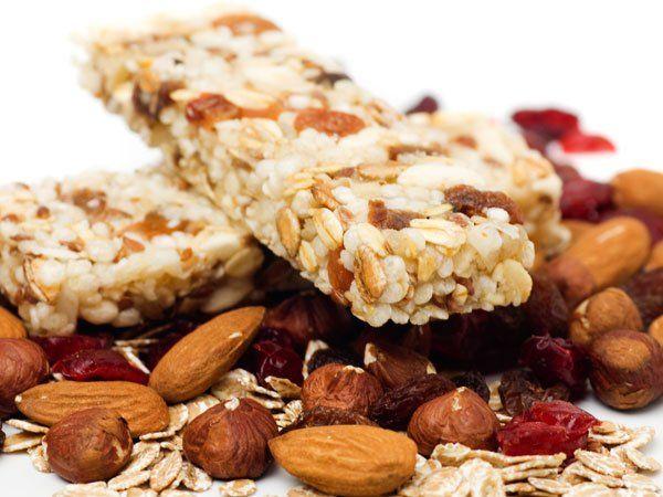 Receta de barritas de cereales para cocinar con niños
