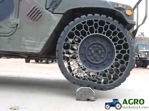 Airless tire test Humvee vs Hummer