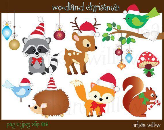 Pin By Mahmut Osman On Xmas Cute Animal Clipart Christmas Animals Animal Clipart