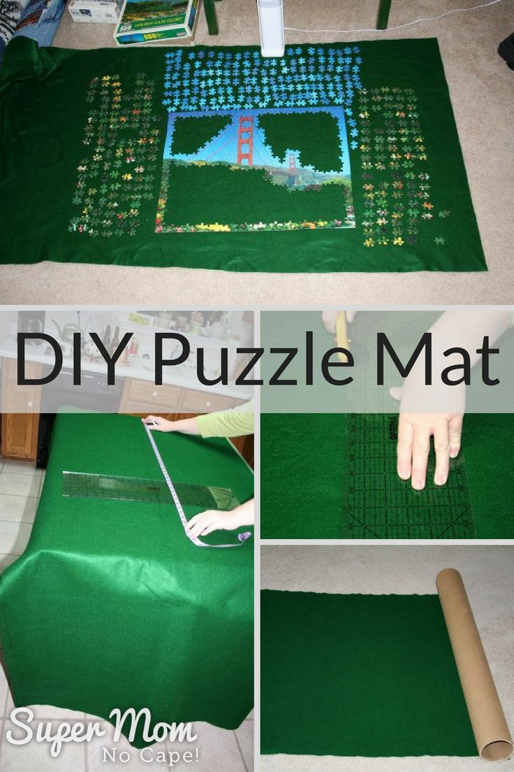 DIY Puzzle Mat - quick, inexpensive project for yourself or to give as a gift. Click thru for the easy to follow instructions! via /susanflemming/
