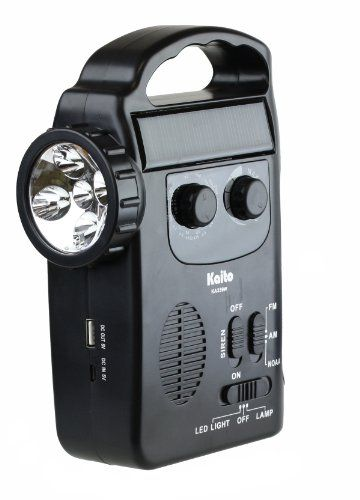 Kaito KA339W Multi-functional 4-way Powered LED Camping Lantern & Flashlight with AM/FM NOAA Weather Radio, Cell Phone Charger & Siren, Color Black    http://www.prepareforapocalypse.com/index.php?c=1097&n=6893245011&i=B00DRNQFGK&x=Kaito_KA339W_Multi_functional_4_way_Powered_LED_Camping_Lantern_Flashlight_with_AM_FM_NOAA_Weather_Radio_Cell_Phone_Charger_Siren_Color_Black