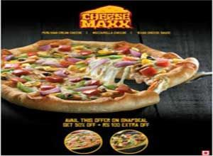 Pizza Hut Chicken Supreme Cheese Maxx Pizza 50% off   Rs. 100 for Rs. 100