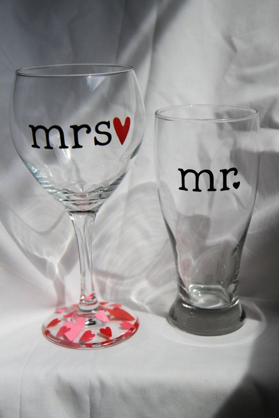 Eat Drink Be Married Stemless Wine Glasses Set Of Two