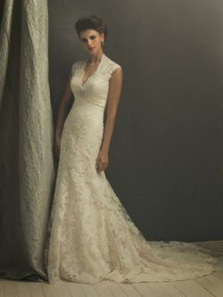 Champagne A-ligne de robe de mariage allure