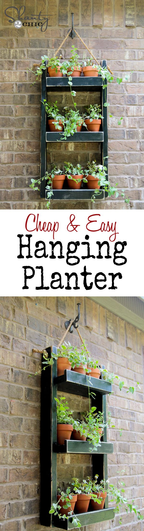 Super cheap and easy hanging planter... LOVE this!, gardening, container gardening, landscaping, DIY