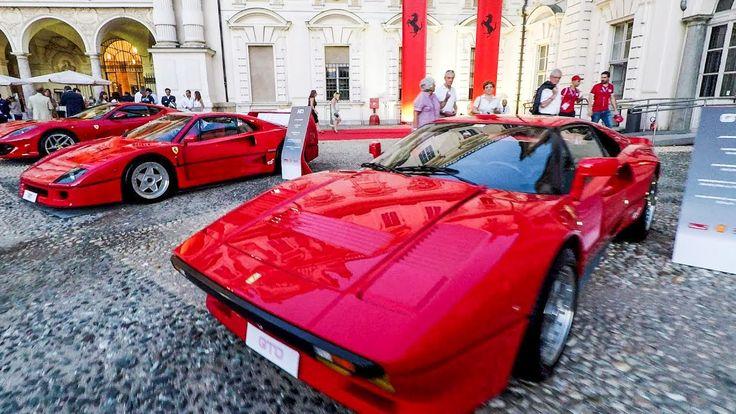 Parade of Top Ferrari Models at 70th Anniversary Party at Valentino Cast...