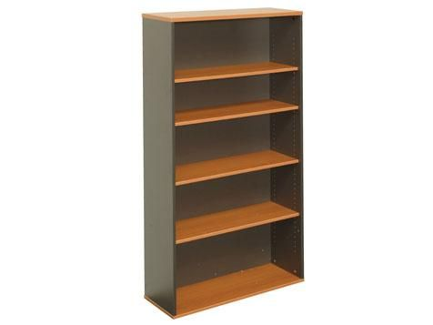 S01 - Book Case 900 x 900 x 315mm 2 adjustable shelves Beech/Ironstone 25mm tops and 18mm sides 3 Year Warranty