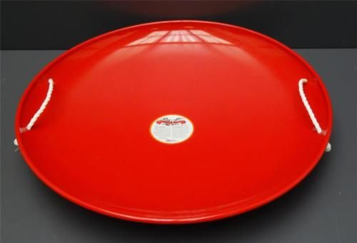 Paricon-Red-Flexible-Flyer-Steel-Saucer-Sled-Kid-Child-Winter-Snow-Toy-Outdoor